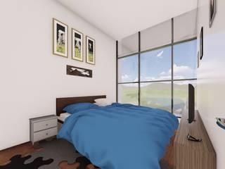 Dormitorio principal Habitaciones modernas de Arq. Bruno Agüero Moderno