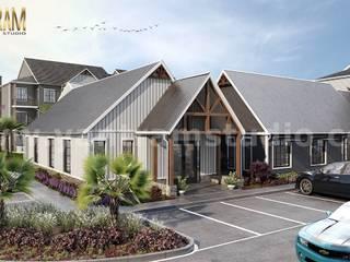 Casas multifamiliares de estilo  de Yantram Architectural Design Studio