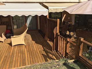 homify Garden Fencing & walls Wood Wood effect
