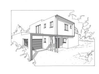 maison architecture moderne par VILLE ET HABITAT construction