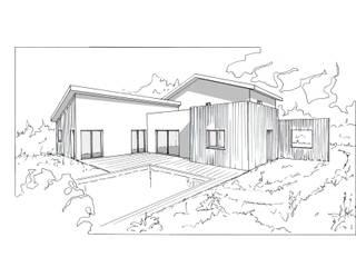 Projet de construction contemporaine Espaces de bureaux classiques par VILLE ET HABITAT construction Classique
