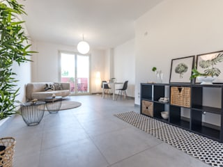 HOME STAGING in appartamento di nuova costruzione Mirna Casadei Home Staging Soggiorno moderno