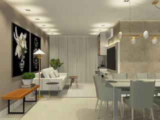 Lacerda Arquitetos Associados Sala da pranzo moderna