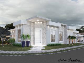 Fachada de Esquina Moderna por Celis Bender Arquitetura e Interiores Minimalista