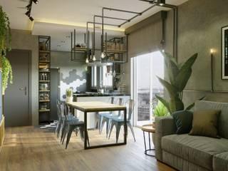 Comedores de estilo industrial de Leonardo Morato Arquitetura Industrial