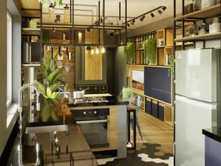 Cocinas de estilo industrial de Leonardo Morato Arquitetura Industrial