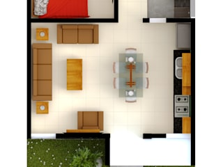 CASA 2R:  de estilo  por R20 Arquitectos,