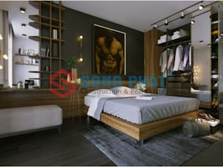 Công ty TNHH TK XD Song Phát BedroomDressing tables Copper/Bronze/Brass Black