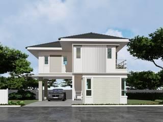 ระเบียงขาว พัฒนาที่ดิน เพื่อให้ลูกค้า สามารถเลือกซื้อที่ดินและปรับแบบบ้านได้  ก่อนการก่อสร้าง: คลาสสิก  โดย บริษัท บ้านระเบียงขาว จำกัด, คลาสสิค