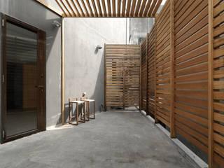 Moderner Balkon, Veranda & Terrasse von 木耳生活藝術 Modern Massivholz Mehrfarbig