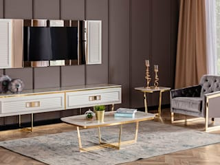 YILDIZ MOBİLYA – Serenıty Luxury Tv Ünitesi:  tarz Yemek Odası,