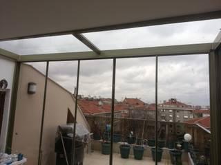 Bakırköy Teras Kış Bahçesi Sürme Cam Balkon ve Cam Çatı Uygulaması Yapısan Cephe Sistemleri Modern Kış Bahçesi Cam Şeffaf