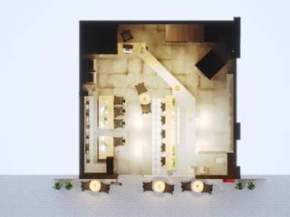 PROJETO PIZZARIA - FORNO NAPOLETANO: Escritórios  por Gelker Ribeiro Arquitetura | Arquiteto Rio de Janeiro,Moderno Derivados de madeira Transparente
