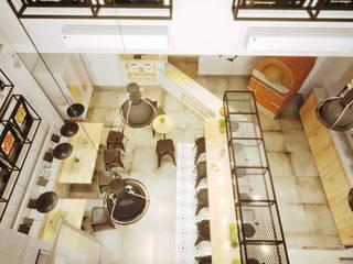 PROJETO PIZZARIA - FORNO NAPOLETANO: Casas  por Gelker Ribeiro Arquitetura | Arquiteto Rio de Janeiro,Industrial Derivados de madeira Transparente