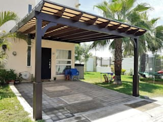 Pergolas de Veracruz diseños americanos Wooden houses Engineered Wood Wood effect