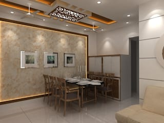 SEEMA PARENTS ROOM ( 2 BHK ) Modern dining room by Clickhomz Modern
