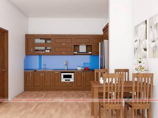 Tổng hợp mẫu tủ bếp gỗ sồi nga hà nội giá rẻ bởi Nội thất Nguyễn Kim