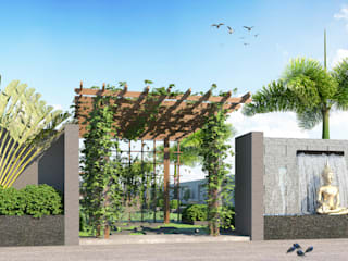 Morning Glory Duplex Bunglow:  Front yard by Future Design Studio,Modern