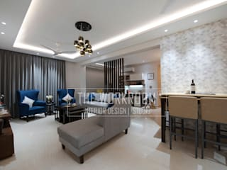 Apartment in Ridgewood Estate, Gurugram Modern living room by The Workroom Modern