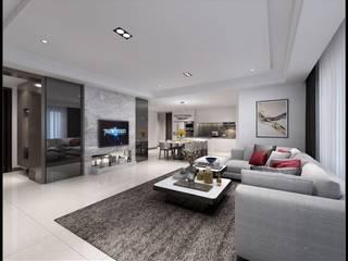 Ruang Keluarga oleh 立騰空間設計, Modern