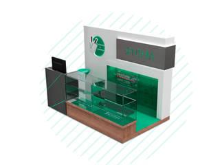 Diseño de stand para Senthia de Magrev estudio.