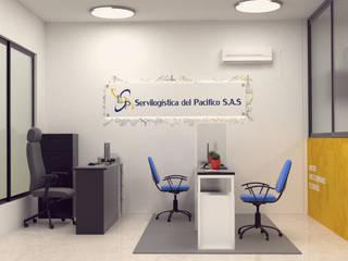Diseño de oficina para servilogistica del pacifico. de Magrev estudio.