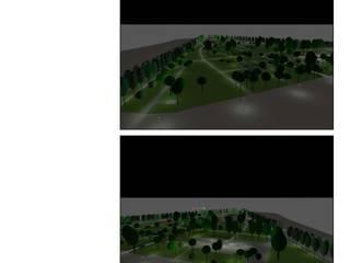 Parque Publico en Suecia Hill-Sand Illumination Estadios de estilo clásico Aluminio/Cinc Transparente