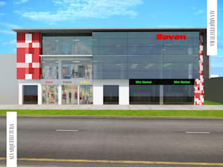 Edificio Comercial Seven: Oficinas y Tiendas de estilo  por Jorge Levano,