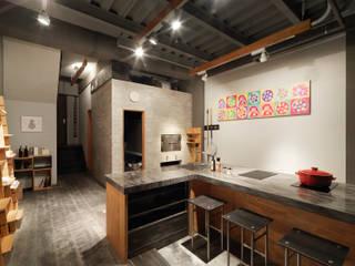木耳生活藝術-商業空間/新竹・窯烤披薩店 根據 木耳生活藝術 現代風