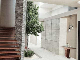 Pasillos, vestíbulos y escaleras de estilo moderno de Vórtice Transparente Moderno