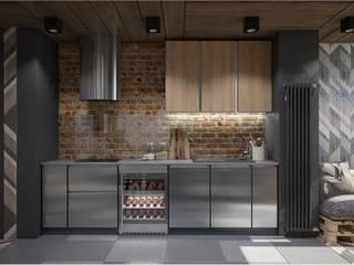 ПРОЕКТ LOFTУШКА ОДИНЦОВА, МОСКВА Кухня в стиле лофт от Interior designers Pavel and Svetlana Alekseeva Лофт