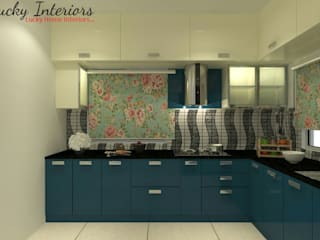 Modular Kitchen Interiors by Lucky Interiors Classic