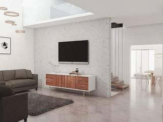 Salas de estilo minimalista de Vórtice Transparente Minimalista