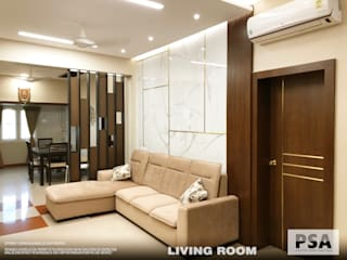 Ramesh Residence Asian style living room by PSA Architecture Asian