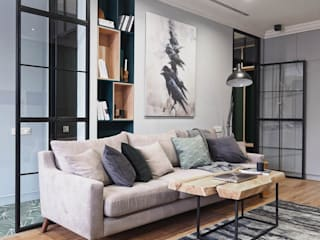 Scandinavian Residency:  Living room by ACOR HOME LIFE SOLUTIONS,