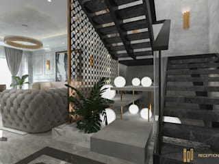 Duplex Apartment | El Banafseg Classic style corridor, hallway and stairs by Saif Mourad Creations Classic