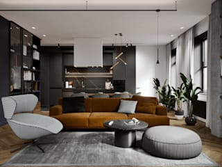 Modern Residence:  Living room by ACOR HOME LIFE SOLUTIONS,Modern