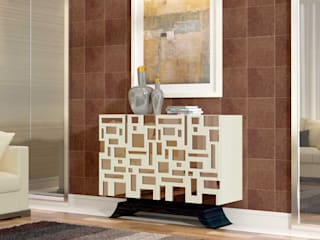 Sapateira com design em lacado e espelho Shoe rack with design in lacquered and mirror ALEC https://www.intense-mobiliario.com/pt/sapateiras/16898-sapateira-alec.html por Intense mobiliário e interiores Moderno