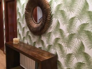 Reforma integral salón, hall y cocina: Pasillos y vestíbulos de estilo  de MOLADECO INTERIORISMO, Ecléctico