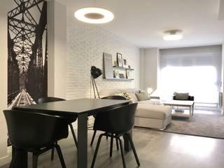 Diseño vivienda familiar: Salones de estilo  de MOLADECO INTERIORISMO, Escandinavo
