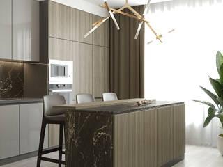 Gold Apartment Кухня в классическом стиле от Higharchitects Классический