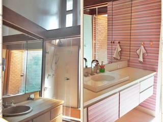 Antes e Depois Banheiros modernos por Danielle David Arquitetura Moderno