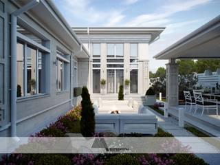 Современная классика в Краснодаре Балкон и терраса в классическом стиле от Архитектурное бюро 'Маринисты' Классический