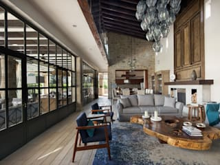 Casa Santísima - San Miguel de Allende Salones modernos de NATALIA MENACHE ARQUITECTURA Moderno