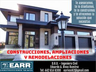 Projekty,  Domowe biuro i gabinet zaprojektowane przez EARR CONSTRUCCIONES, S.A. DE C.V., Minimalistyczny
