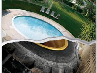 Projekty,  Basen zaprojektowane przez EARR CONSTRUCCIONES, S.A. DE C.V., Minimalistyczny