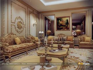 Classic Majlis :  غرفة المعيشة تنفيذ origindesign.design,