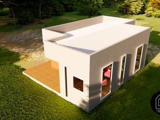 Diseño Casa Prefabricada 57 m2: Casas prefabricadas de estilo  por Primer Clove Arquitectos, Rural