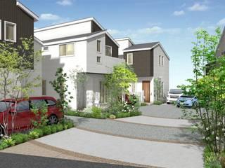 クルドサック風分譲住宅: 結ランドスケープデザインが手掛けたリゾートハウスです。,