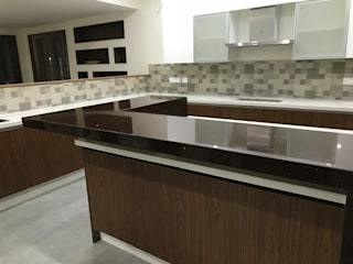 classicspaceinterior KitchenCabinets & shelves Plywood Wood effect
